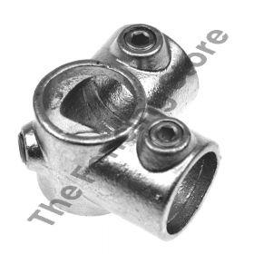 Kwikclamp 116 Series, galv corner CROSS connector fitting D48 (40NB)