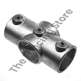 """Kwikclamp 119 Series, heavy duty """"X"""" galv connector fittings, D48 (40NB)"""