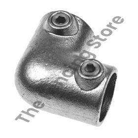Kwikclamp 125 Series, 90 degree corner galv connector fittings D48 (40NB)