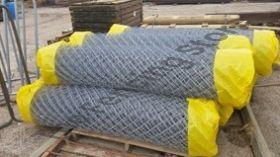 Chain wire mesh, 60mm diamond x 2.5mm diam hot dip galv wire