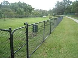 PVC coated chain wire gates, Residential Fencing, single