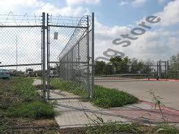Chain wire security gates, pedestrian access, single