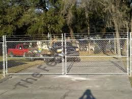 Chain wire security gates, vehicle access, double