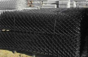 Black PVc coated chain wire mesh