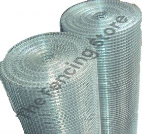 Welded wire mesh, 6.5 x 6.5 x 0.65mm, 1200mm wide x 30m roll, hot dip galvanised
