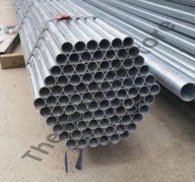 Galvanised fence pipe