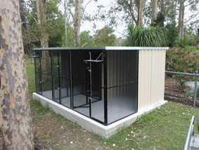 PVC coated mesh enclosure