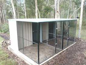 Enclosure using black PVC coated welded wire mesh