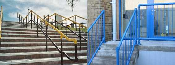 Handrails with Interclamp