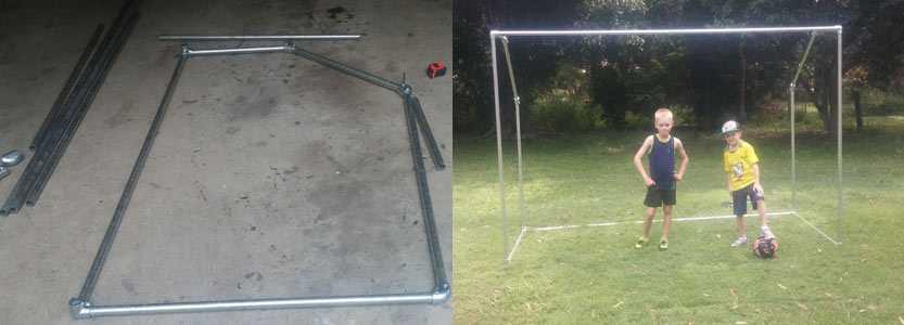 Soccer goal frame